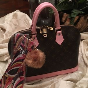Authentic Louis Vuitton Cotton Candy Alma Satchel